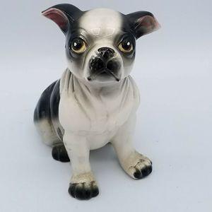 VTG Ceramic Black White French Bulldog